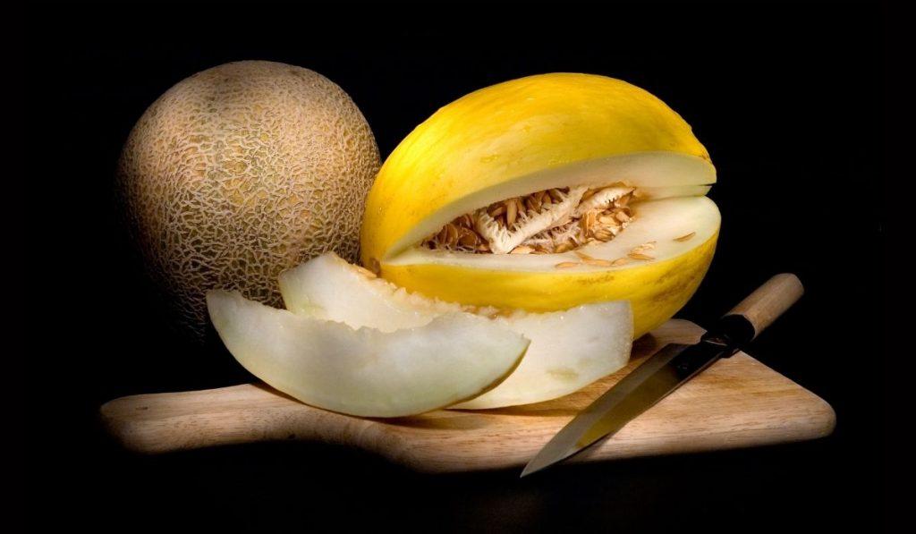 Slice Cantaloupe and Honeydew