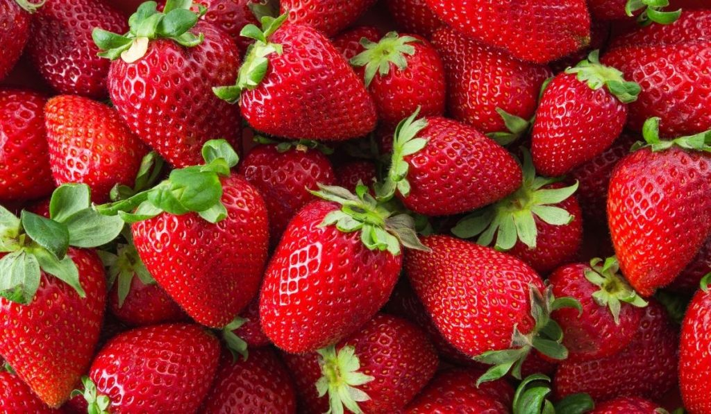 Strawberries on the background